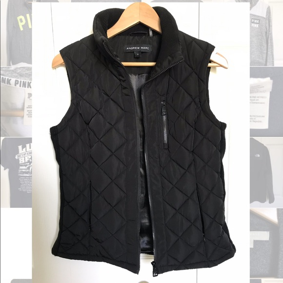 NWT MARC NEW YORK ANDREW MARC WOMENS QUILTED VEST GREY SMALL S